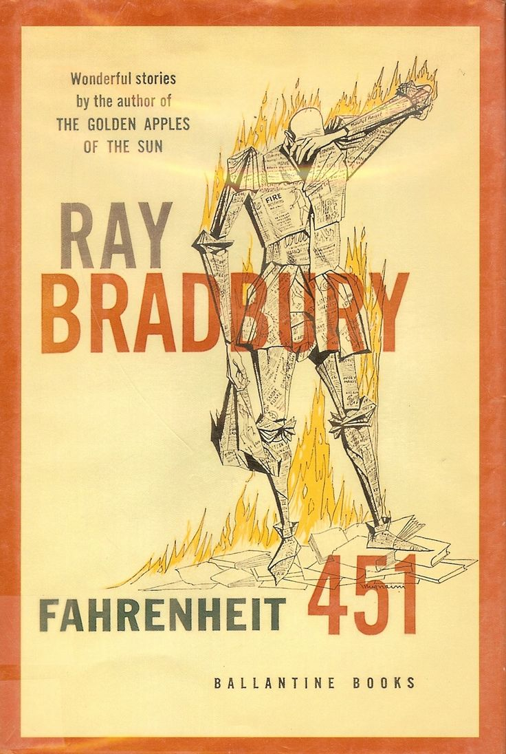 What is an example of man vs. man conflict in Ray Bradbury's Fahrenheit 451?