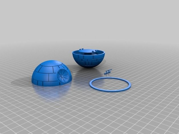 Death Star Headphone wrap by lukejester - Thingiverse