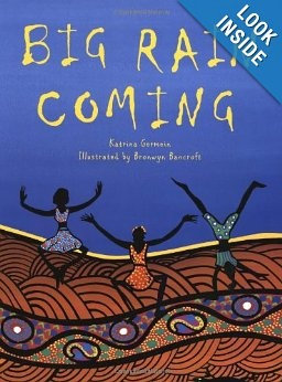 "Combine with Aboriginal snake Art lesson...""As one dry day follows another in the Australian outback, everyone and everything is waiting for the rain. Stunningly beautiful full-color artwork and spare text evoke the long wait during the dry season, and the jubilant relief when the long-promised rain finally arrives. Brilliantly colored, stylized illustrations—which feature imagery from Aboriginal mythology—"