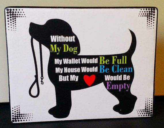 Adorable Silhouette Custom Dog Lover Quote by NikkisSecretCloset