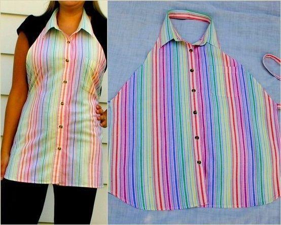 forklæde af skjorte