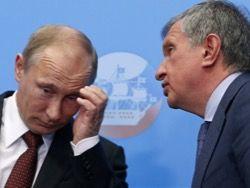 """Путин и """"Большая приватизация""""_Во, как Сечин впаривает тихой сапой_сама невинность: """"Володь, Ну ты ж меня знаешь_я же всегда за тебя, за твоих львят и львицу__ Ну, подари мне... & Путин:_""""Ну, дааа, воще-то_в прынцыпе_по идее_надо подумать_ты пока работай-работай"""