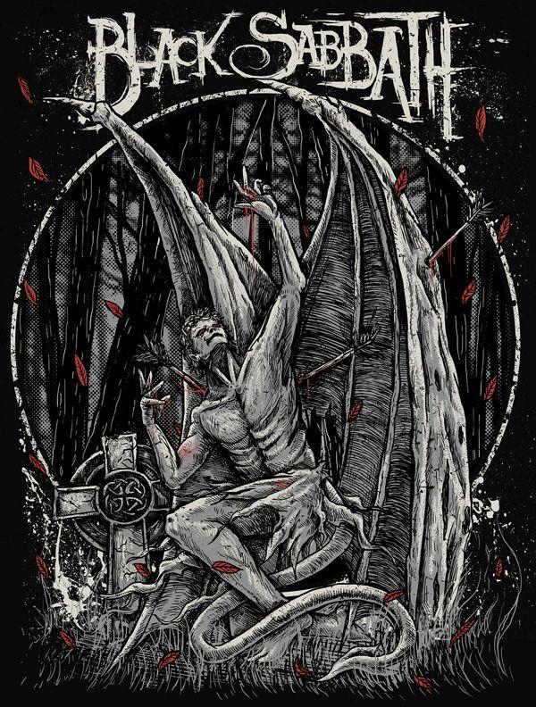Black Sabbath by TROCKZ ART, via Behance