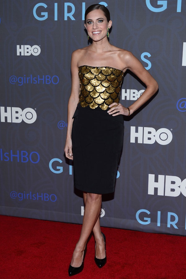 Ideal Allison Williams in Altuzarra Girls Season Premiere