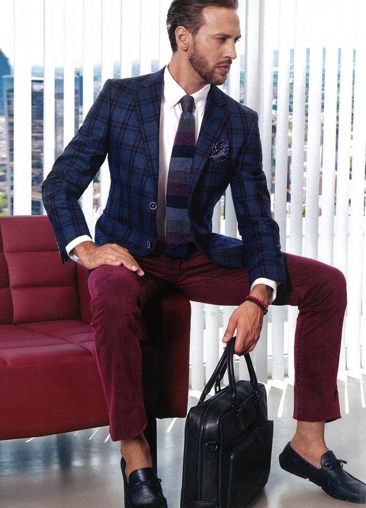 Стильная уличная молодежная мужская мода на осень-зиму 2017 - 2018 в кардиганах, пиджаках, брюках, кроссовках, туфлях