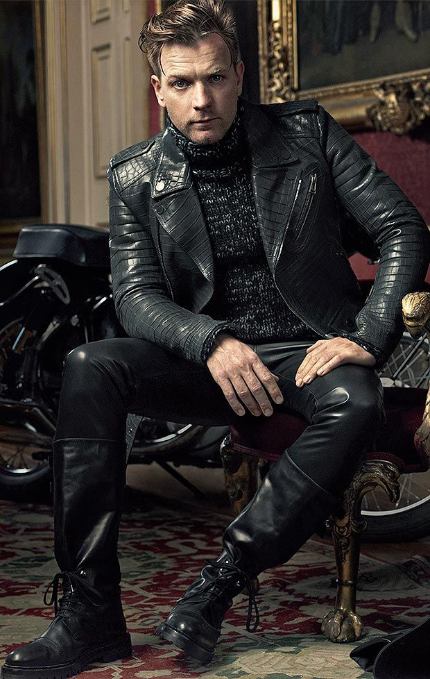 Ewan McGregor....does this count? leather and hot