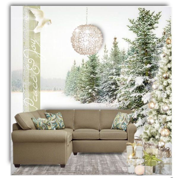 PEACE AND JOY by kiki-parker on Polyvore featuring interior, interiors, interior design, home, home decor, interior decorating, Worlds Away and Pottery Barn