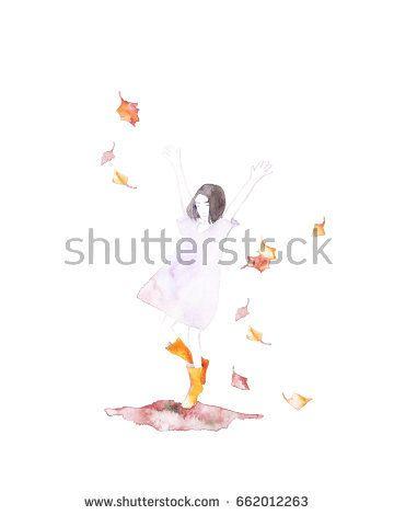 Cute smiling girl jumping in puddle. Theme autumn. @Knysh Ksenya @knyshksenya