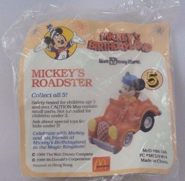 1988 McDonalds Happy Meal Toy Mickey/'s Birthdayland Mickey/'s Roadster Car #5