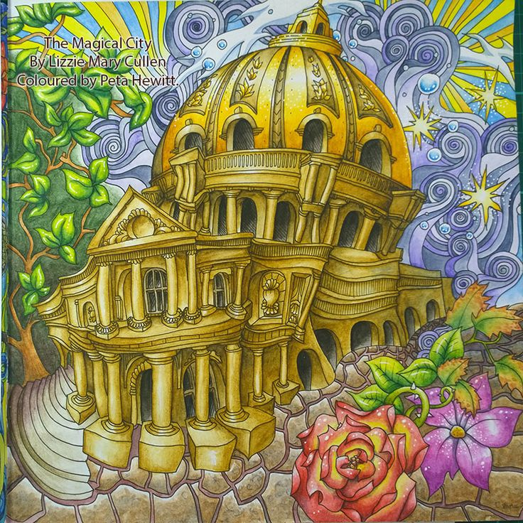 Peta Hewitt Aka La Artistino With A Scene From Paris In The Magical City Color Book By Lizzie Mary Cullen Multiple Part Coloring You Tube Tutorial