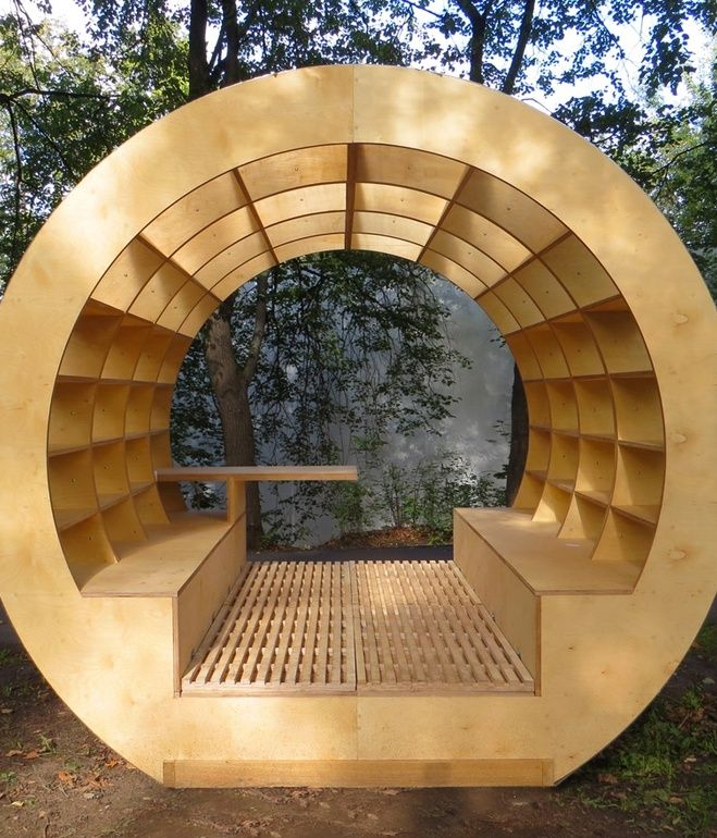This outdoor bench-bibliotheque brings new meaning to the phrase 'surrounded by books.' Promising to bring intellectuals outdoors, this g...