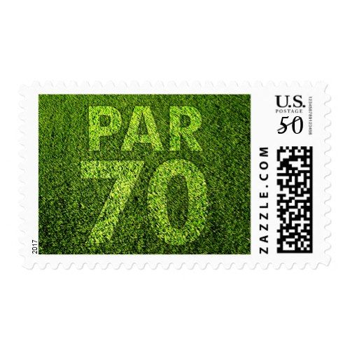 Golfers 70th Birthday Party Par 70 Postage