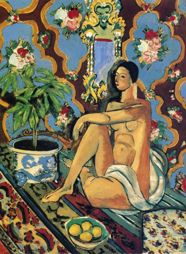 Matisse: Paris, Oil On Canvas, Ornaments Backgrounds, 1925 26, Ornaments Ground, Henry Matisse, Henri Matisse, Painting, Decor Figures