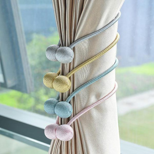 Easysnap Nordic Magnetic Curtain Tiebacks Get 75 Off Wowelo Magnetic Curtain Curtain Tie Backs Tassels