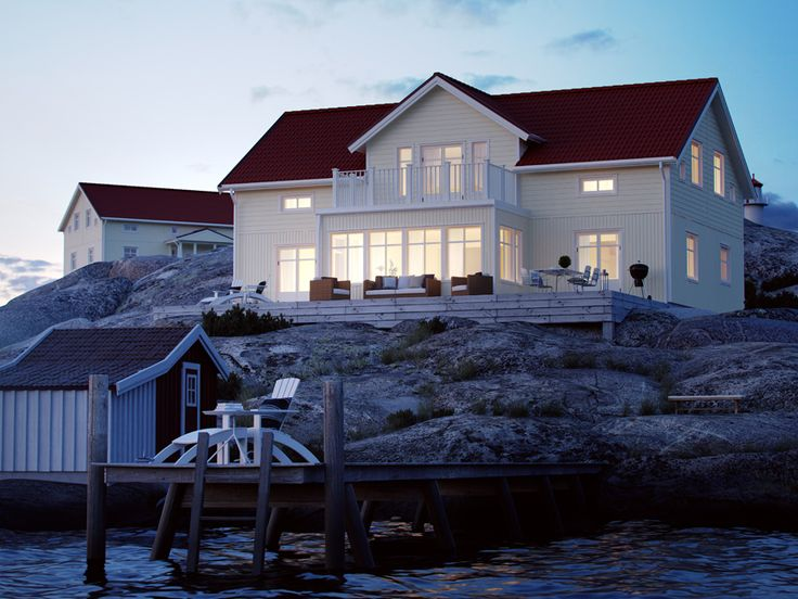 Skepparegården - Förhöjt väggliv på två plan från Myresjöhus