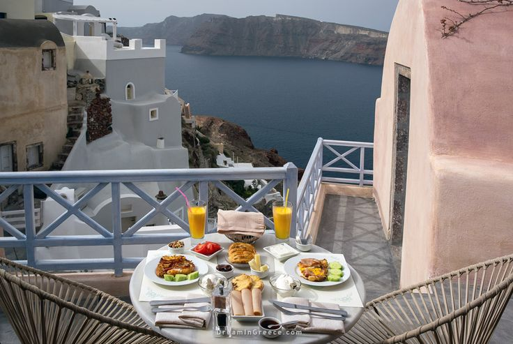 Breakfast - Kastro Oia Houses and Restaurant in Santorini island Greece. Photo taken by Dimitris Evangelopoulos @dimevaggelo  Check out this amazing Hotel > http://www.dreamingreece.com/santorini/kastro-oia-houses-restaurant-hotels-in-greece  #dreamingreece #oia #santorini #greece #travel #travelguide #vacation #holidays #destination #beaches #greekbeaches #photography #greekislands #greekhotels #breakfast