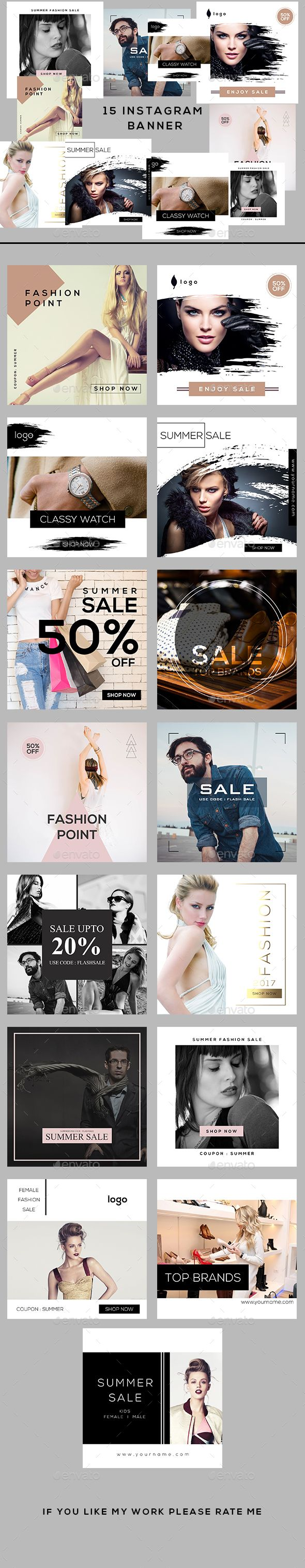 Fashion Instagram Banners — Photoshop PSD #business #deal • Download ➝ https://graphicriver.net/item/fashion-instagram-banners/20093145?ref=pxcr