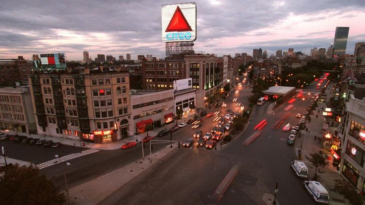 CITGO sign: Added to the Boston skyline in 1940 and revamped in 1980, the CITGO sign measures 60 feet by 60 feet. It's been said the sign's pulsing lights have been used by mothers-to-be at Beth Israel Hospital to time their contractions. The sign was turned off during the 1973 oil crisis.