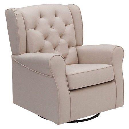 Delta Children Emma Nursery Glider Swivel Rocker Chair - Flax : Target