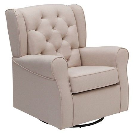 Delta Children Emma Nursery Glider Swivel Rocker Chair – Flax : Target