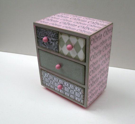 Personalized Jewelry Box Trinket Box Treasure by MyButterflySister