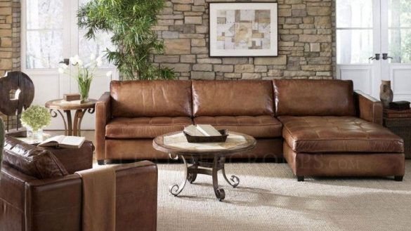 Decoration: Inspiring Rustic Leather Sectional Sofa Best ...