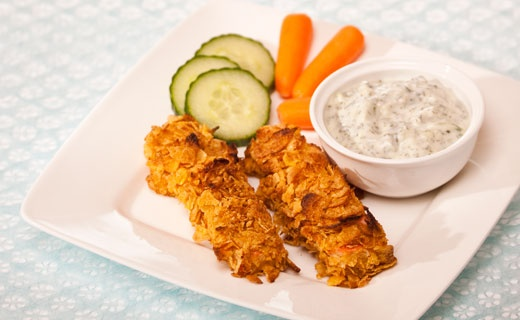 Lunch/Dinner: Epicure's Mediterranean Fish Sticks (190 calories/serving) serve with veggies and Epicure dip