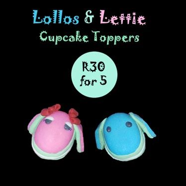 Lollos & Lettie fondant cupcake toppers