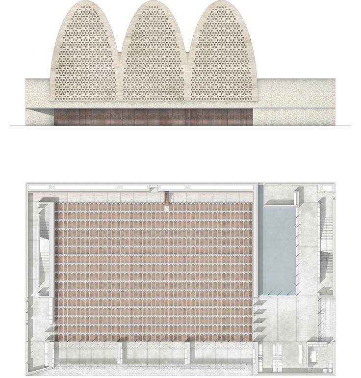 Mosque_West Elevation and Floor Plan