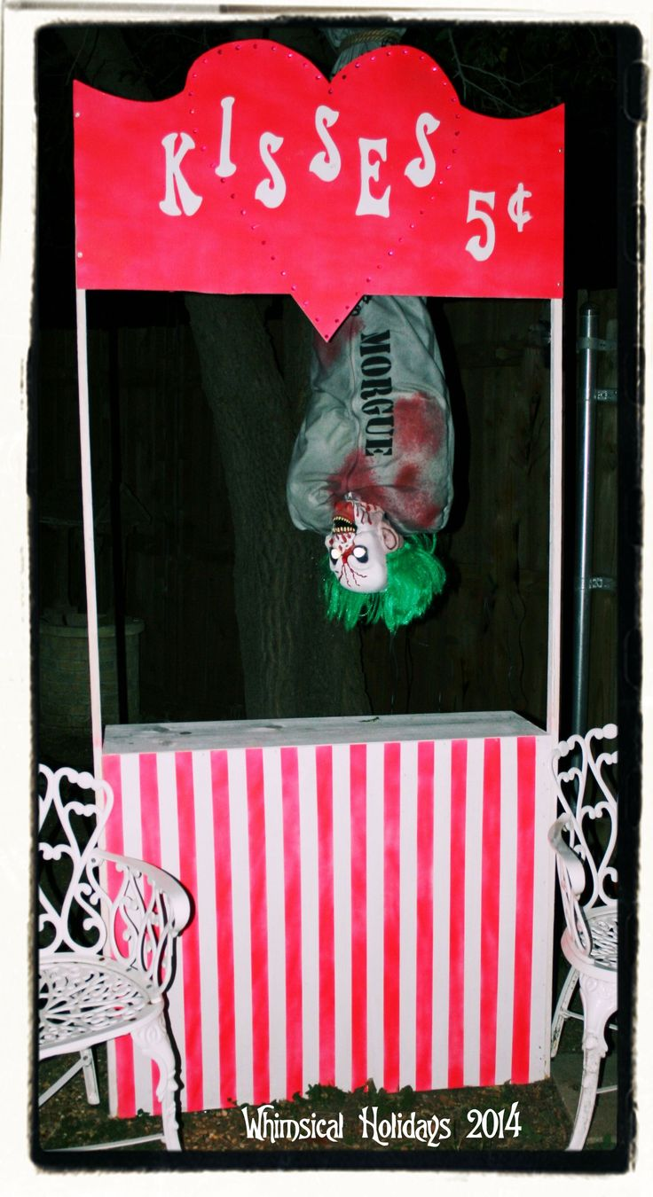 Kissing Booth,Halloween Carnival. ~ CranEvil Games by Whimsical Holidays at Twin Oaks Manor haunt.~