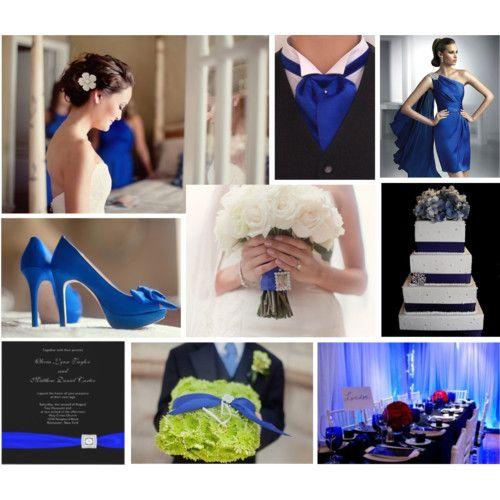 Wedding Planner Diary Royal Blue Black And White Theme