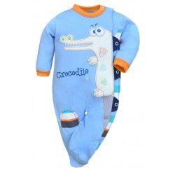 Coś dla niemowlaków:)  Pajac Niemowlęcy Krokodyl - Crocodilo Koala - bawełniany, z długim rękawkiem w kolorze niebieskim z fajnymi wstawkami pomarańczu, granatu i bieli.   Rozmiary dostępne na naszej stronie:)   #pajacnimowlecy #pajacdlaniemowlaka #pajacykniemowlecy #pajacykdlaniemowlaka #koala