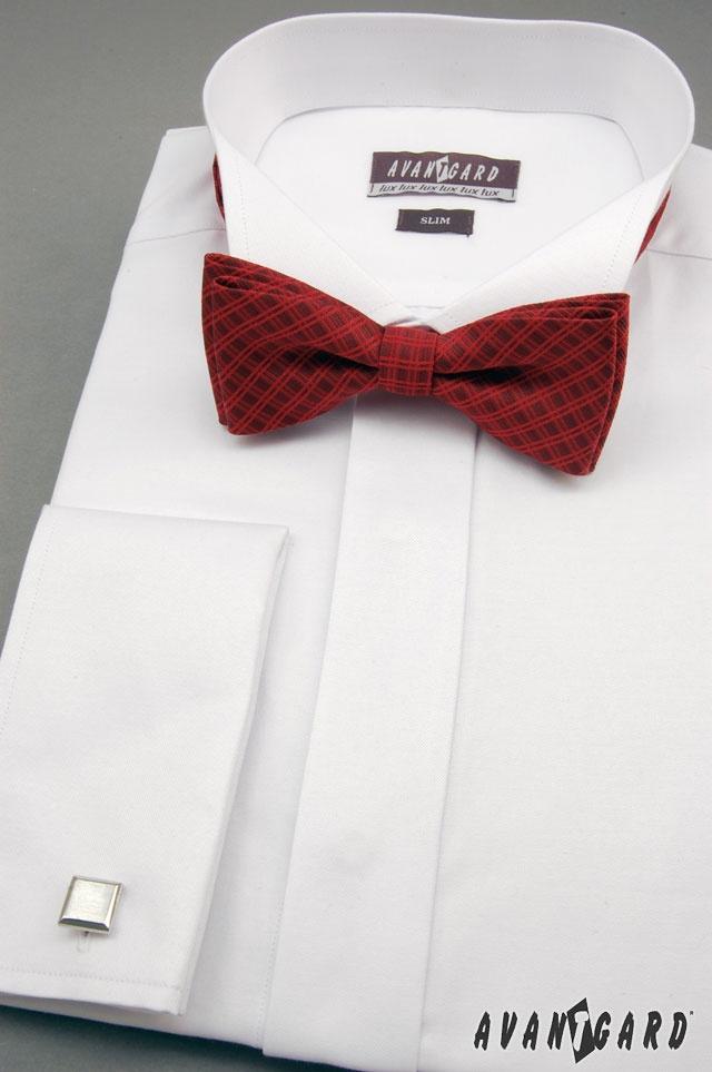 Motýlek PREMIUM, fraková košile a manžetové knoflíky. Vše značka AVANTGARD.