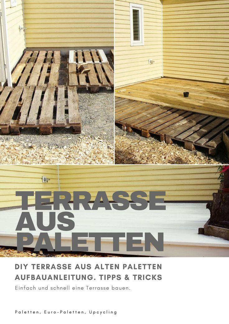 Diy Terrasse Aus Paletten Bauen Deck Garten Selbermachen Europaletten Palettenm 1000 Deck Garden Pallet Furniture Outdoor Pallet Building
