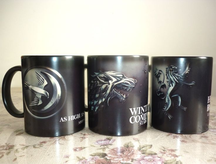 Stark Arryn Lannister Game of Thrones Color Changing Ceramic Coffee Mugs //Price: $18.00 & FREE Shipping //     #gots7