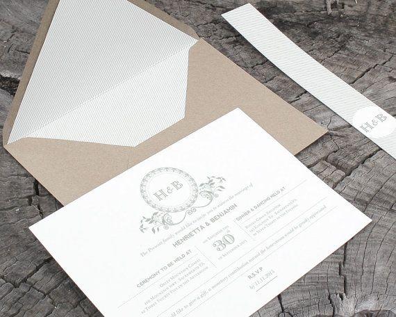 clean, stylish invite