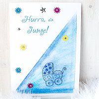 zur Geburt liebe Grüße basteln - wir haben tolle Ideen inklusive Anleitung und passende Motivstempel dazu wie man zur Geburt gratulieren kann http://kreativ-zauber.de/zur-geburt/