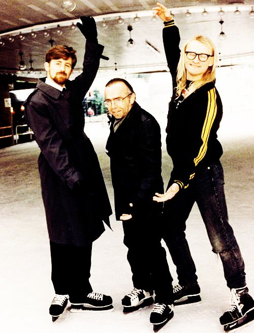 The Lone Gunmen on ice. Show me those moves.