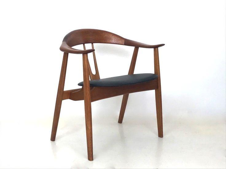 Teak and oak armchair by Arne Hovmand Olsen