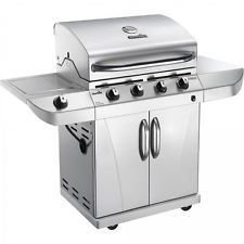 Stainless Steel 4-Burner Grill Propane Gas BBQ Cooker Electric Outdoor Chef SALE