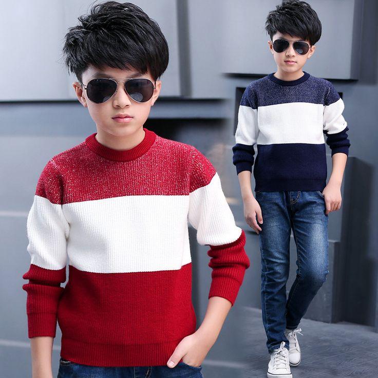 Купить товарМальчики Пуловеры Дети Вязаные Младенческой Свитер Autunm…