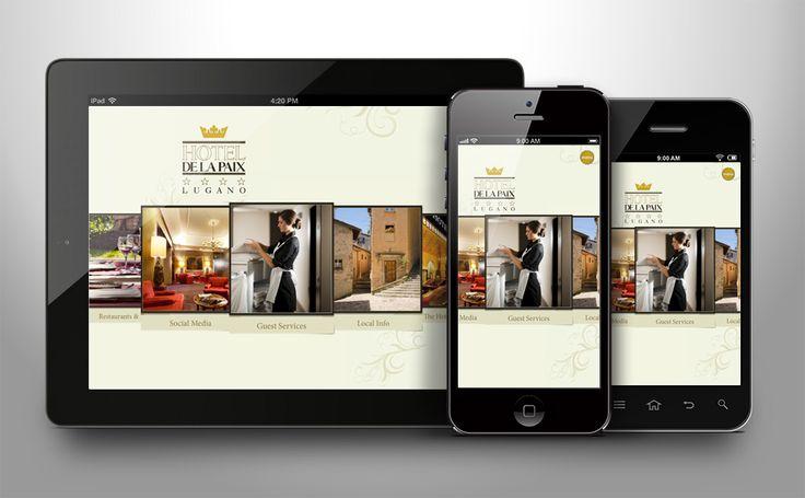 De la Paix HOTEL in Lugano app