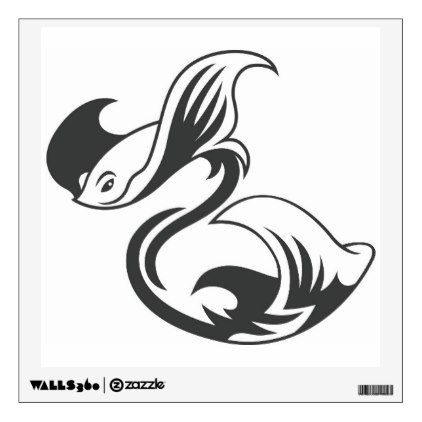 Tuwa Stingrays Black Wall Sticker - decor gifts diy home & living cyo giftidea