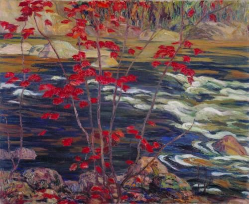 The Red Maple was painted in 1914 by Group of Seven artist, A.Y. Jackson.  http://www.groupofsevenart.com/Jackson/AY_Jackson.html