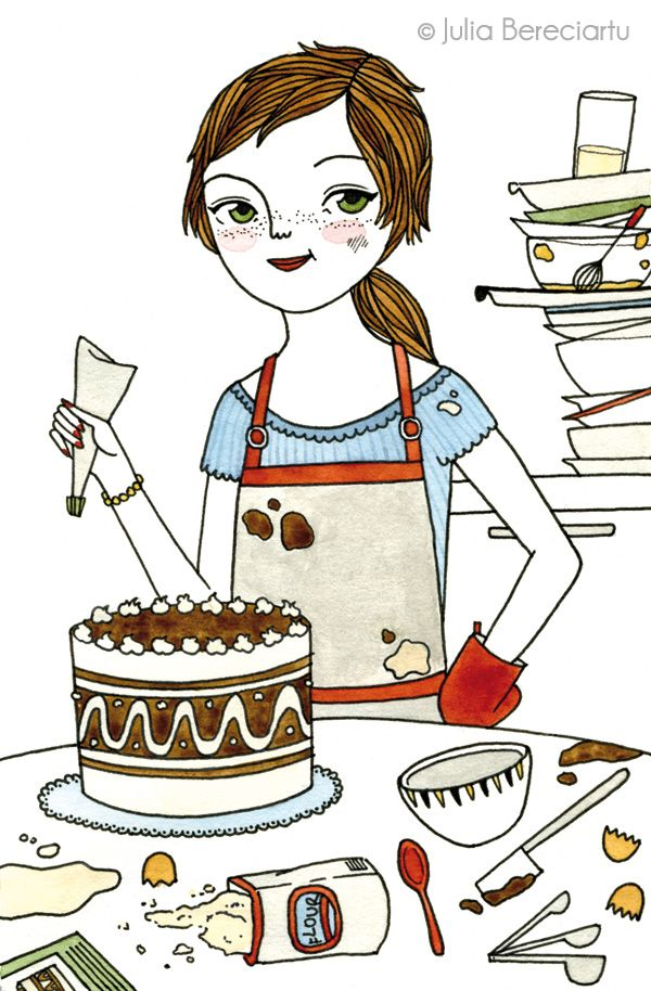 679 best Cakes and desserts illustrations images on ...