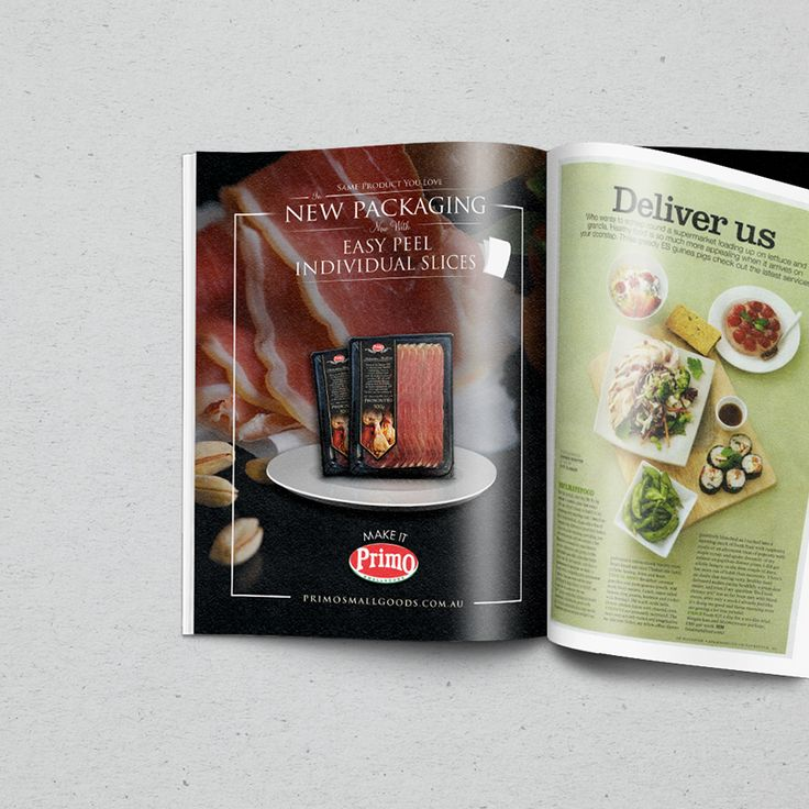 Advert for Primo. Printed in Feast Magazine and Coles Magazine.