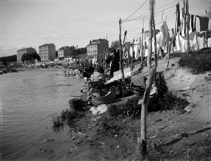 Lavanderas en el Manzanares. 1915