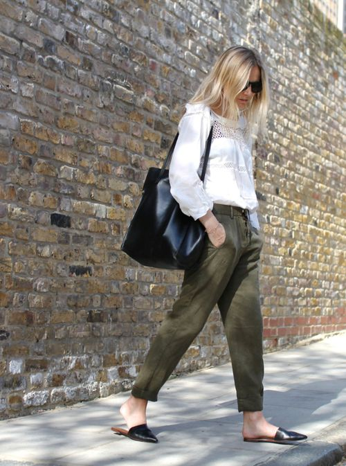 Flat Mules: shoes + outfit