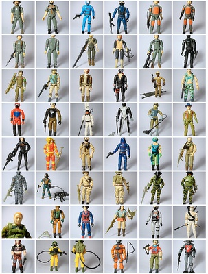 G.I. Joe action figures...not dolls.
