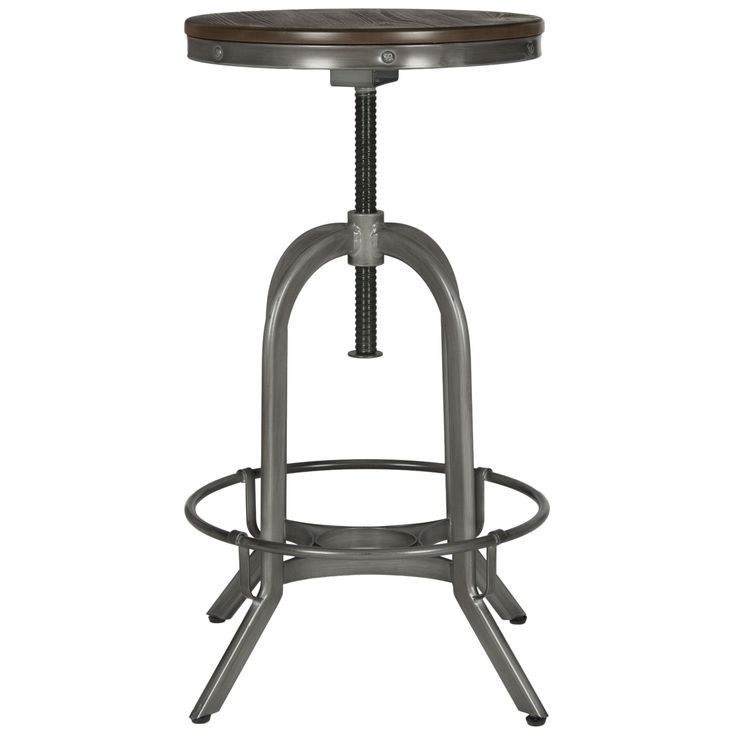 Industrial chic design is always in vogue and this cool-looking perch echoes the lines of mid-century drafting stools. For around whiskey barrels?  sc 1 st  Pinterest : 34 seat height bar stool - islam-shia.org